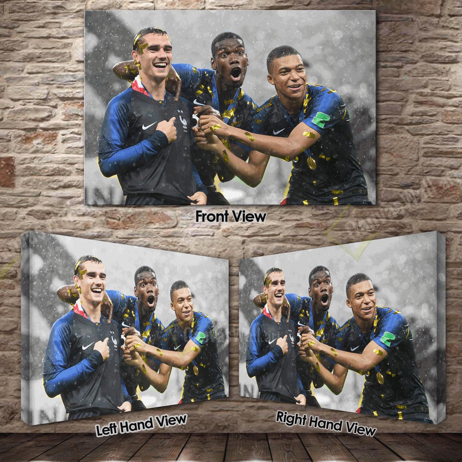 FRANCE World Cup 2018 GRIEZMANN POGBA /& MBAPPE ~ Canvas Print ~ 5 Sizes NT04